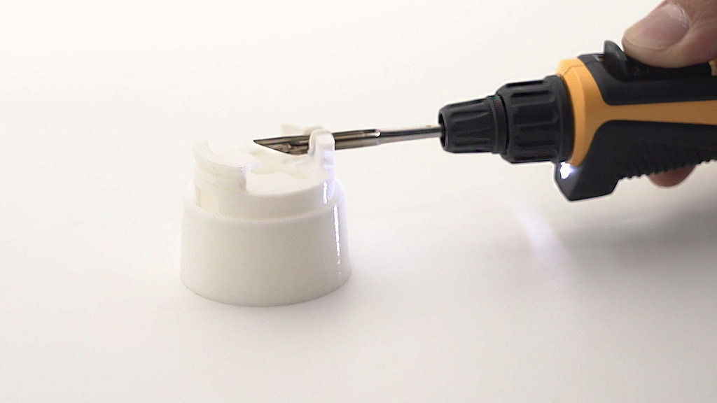 Precision hot knife tip on USB powered soldering iron perfect for trimming 3D printed components
