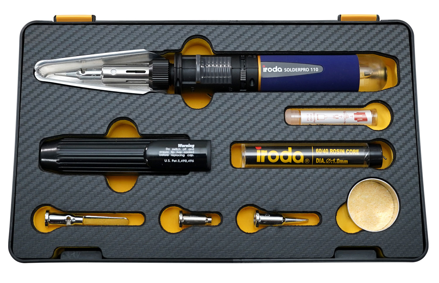 SOLDERPRO 110KB Professional Butane Soldering Iron Kit with 3 additional soldering tips from Pro-Iroda