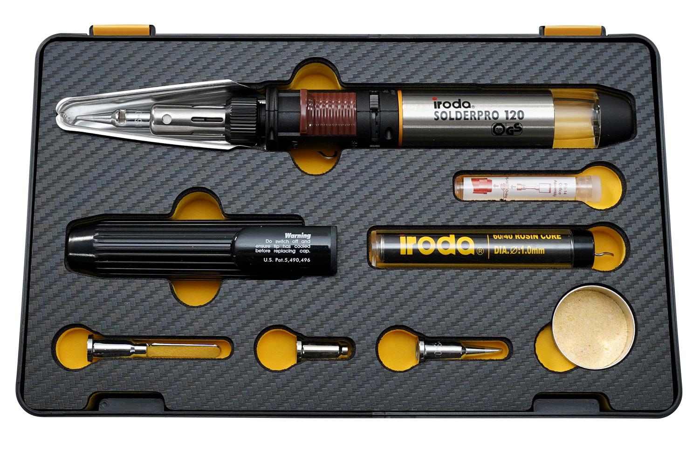 SOLDERPRO 120K Professional Butane Soldering Iron Kit with 3 additional soldering tips from Pro-Iroda